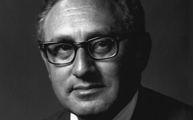 Henry Kissinger Effekt Vorbild Portrait