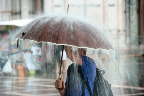 Schlechtwetter-Regen