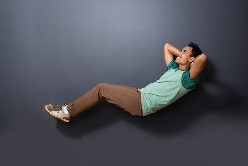 Schweben-Luftmenschen-Entspannen