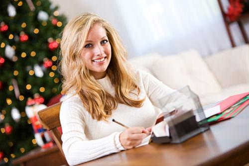 Weihnachtskarte-Gruß-Schreiben