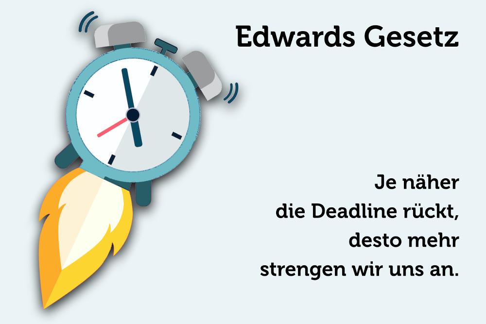 Edwards-Gesetz: Weniger Zeit, mehr Aufwand