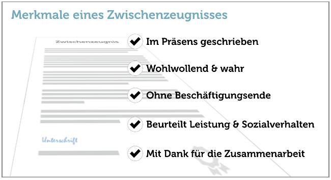 Merkmale Zwischenzeugnis Checkliste Grafik