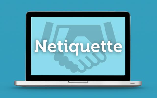 Netiquette-Regeln