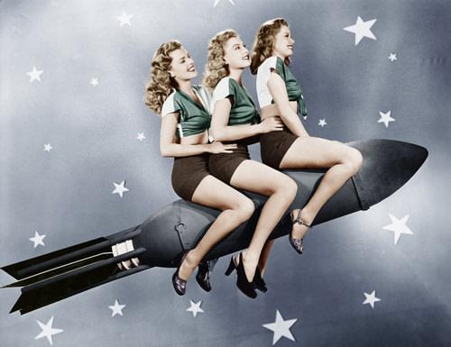 Nostalgie-Frauen-Rakete