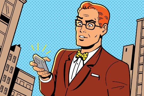 Phantomklingeln-Telefon-Fehlalarm-Comic
