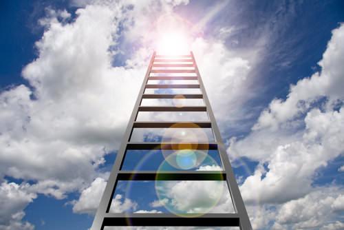 Aufstieg: Die Karriereleiter steht nicht im Büro
