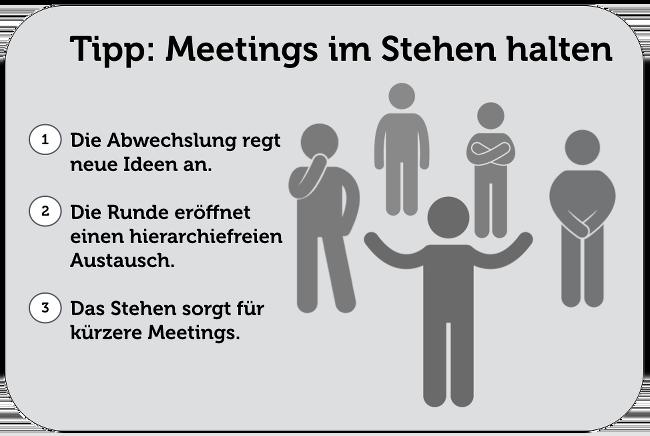 Meeting Tipps Stehen Regeln Aufpeppen