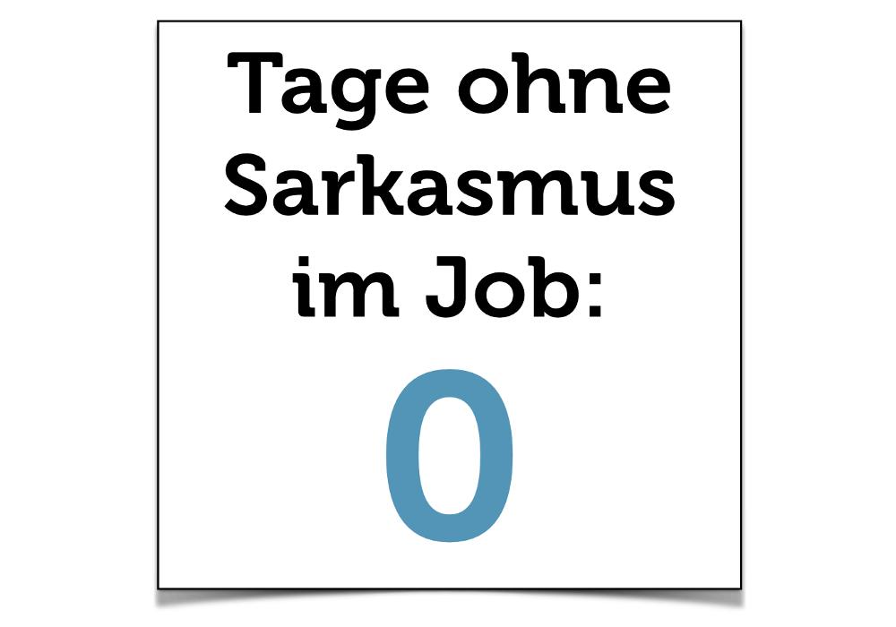 Sarkasmus Beispiel Job Grafik Humor
