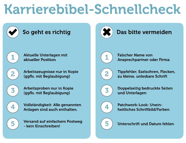 Bewerbung Format: Die Top-Grundregeln | Karrierebibel.De