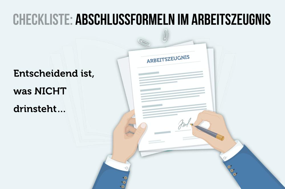 Abschlussformeln Arbeitszeugnis Vertrag Unterschrift Formulierungen