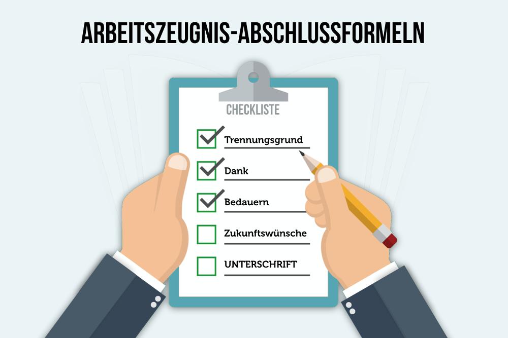 Arbeitszeugnis Abschlussformeln Checkliste