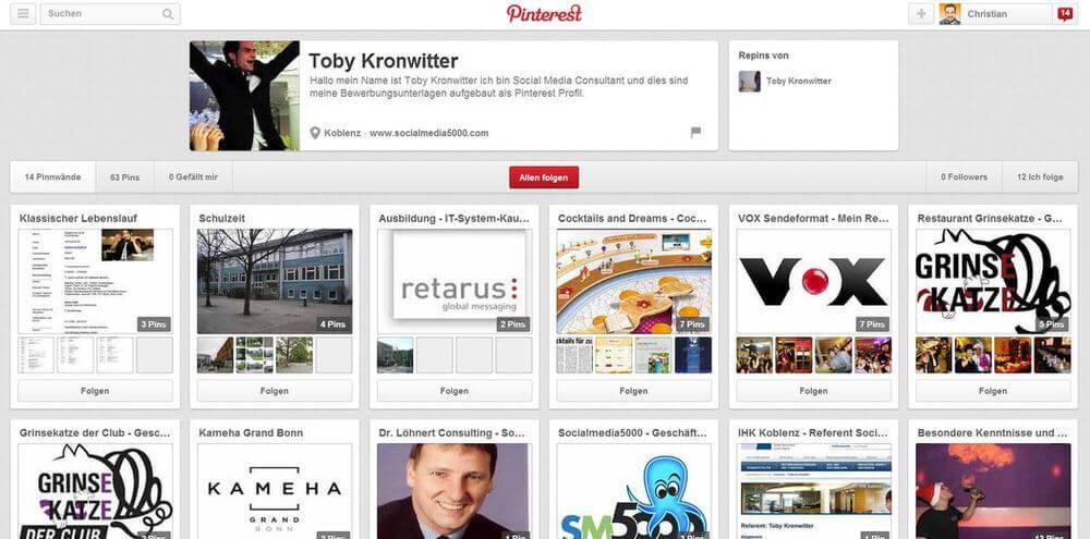 Online Lebenslauf Pinterest Bewerbung