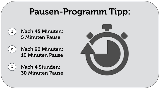 Pausen-Programm-Tipps