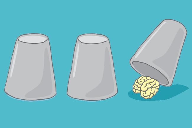 Psychotricks-Gehirn-Glas-Becher