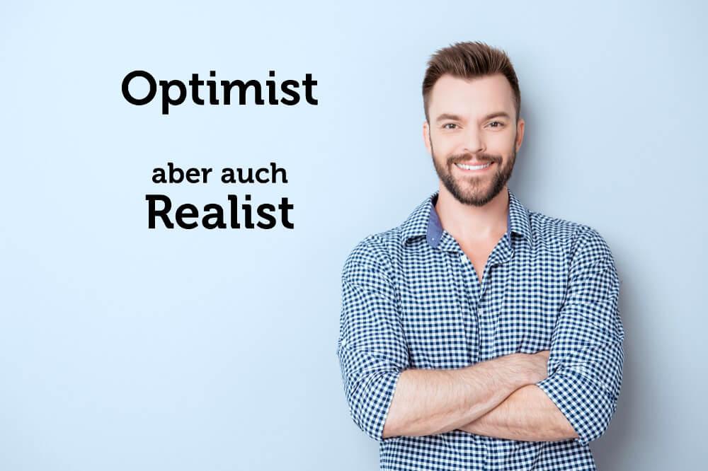 Realistischer Optimismus gesundes Denken