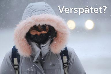 Wetterbedingte Verspätung: Droht die Kündigung?