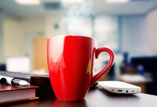 Gratis-Kaffee-Buero