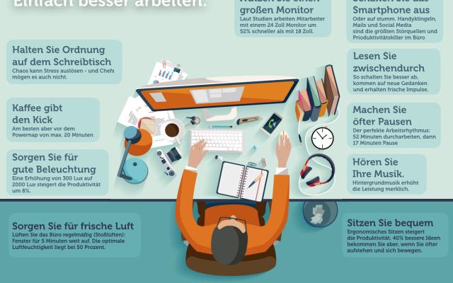 Produktivitaet-Schreibtisch-Tipps-Infografik