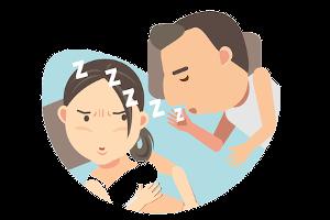 Schlafstörungen durch Schnarchen