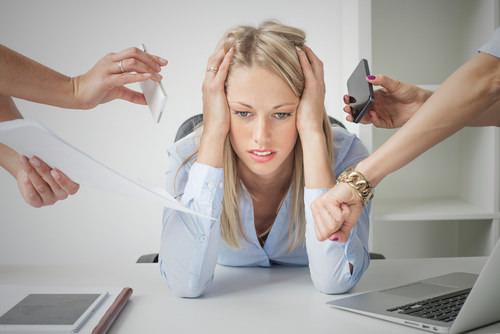 Unzufriedenheit-Jobfrust-Frau