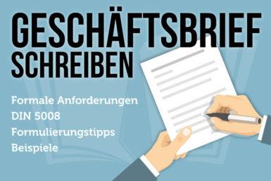 Geschäftsbrief schreiben: Tipps und Vorlagen