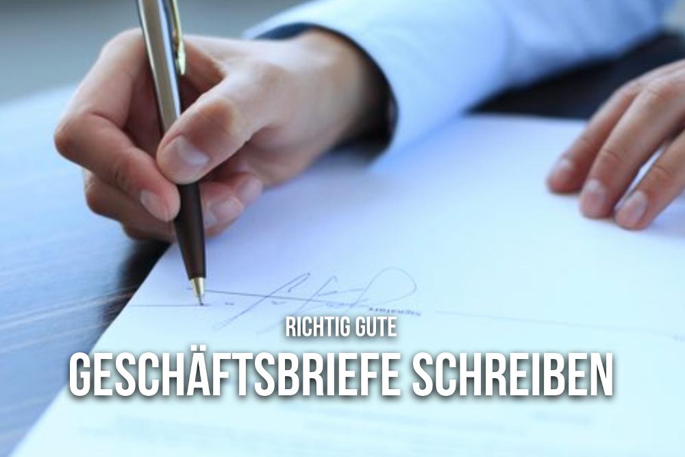 Geschaeftsbrief schreiben Vorlagen Professionell Unterschrift