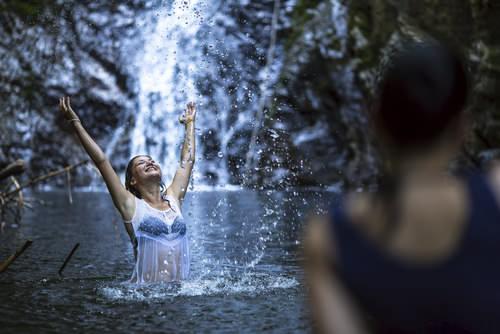 Dusche Wasserfall : Kalte Dusche-Wasserfall