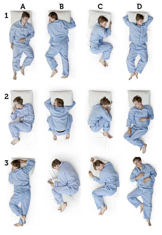 Schlafpositionen Beispiele 1 3