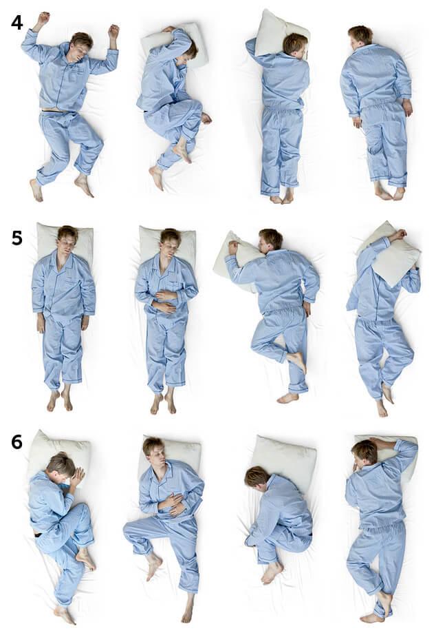 Schlafpositionen Beispiele Positionen 4 6