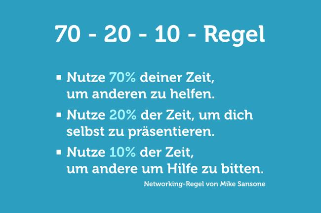 Netzwerken: Die 70-20-10-Regel