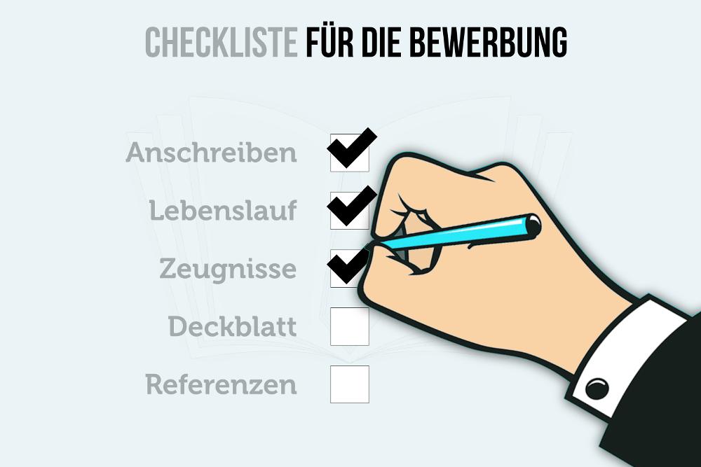 Checkliste Bewerbung Auswahl Bewerber was muss rein