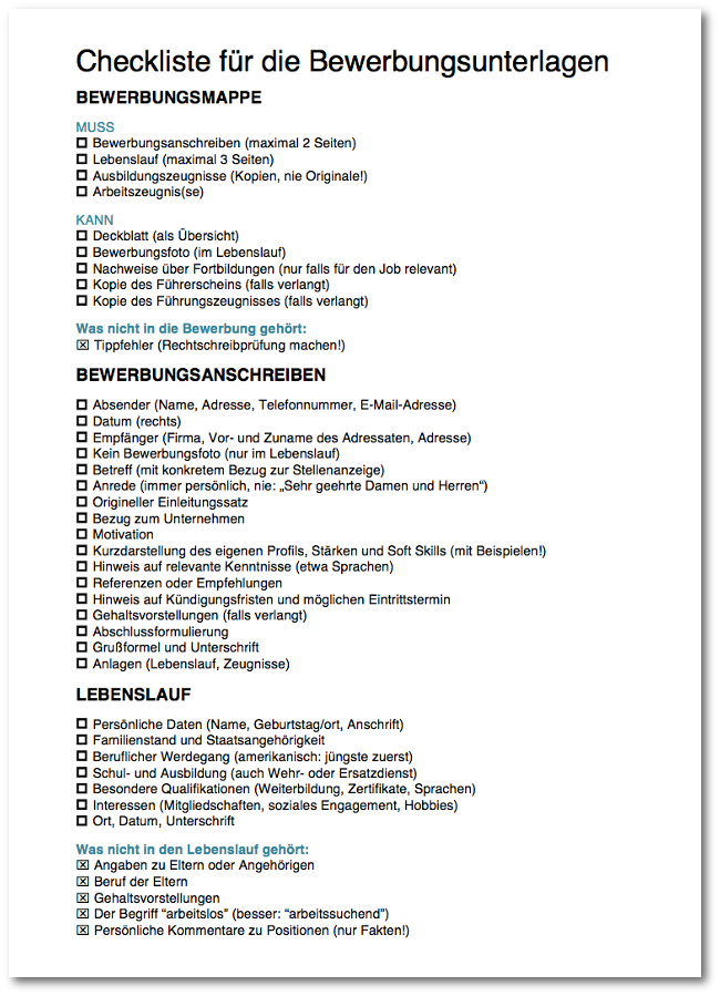Checkliste-Bewerbungsunterlagen-Download
