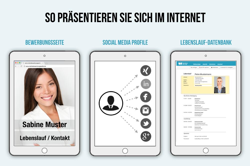 Präsenz im Internet zeigen: Passive Bewerbung online Tipps