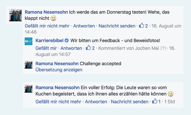Leser Feedback Facebook Suesses