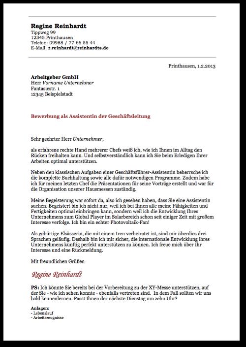 Bewerbungsmuster-Anschreiben-Vorlage-Assistentin-Vorschau