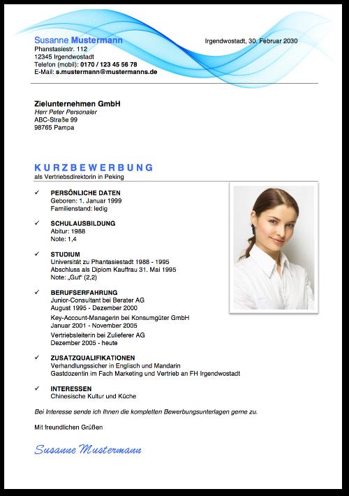Kurzbewerbung: Beispiele, Tipps, Vorlagen | karrierebibel.de