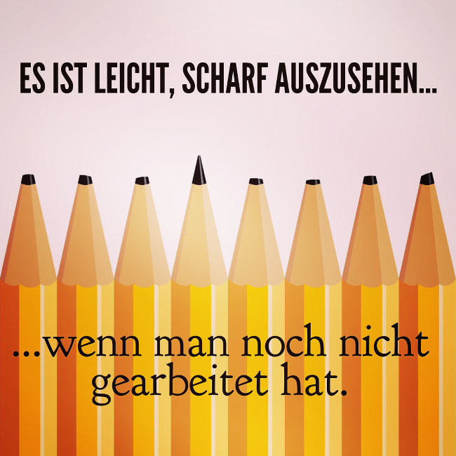 Gutaussehn-Bleistift