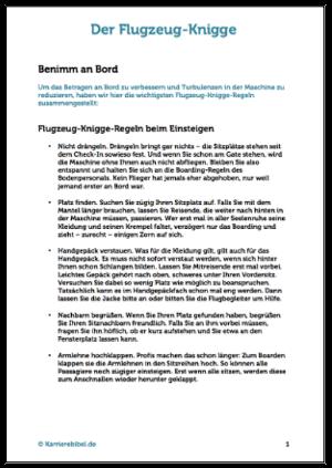 Gutes Benehmen an Bord PDF Reise Kniggeregeln