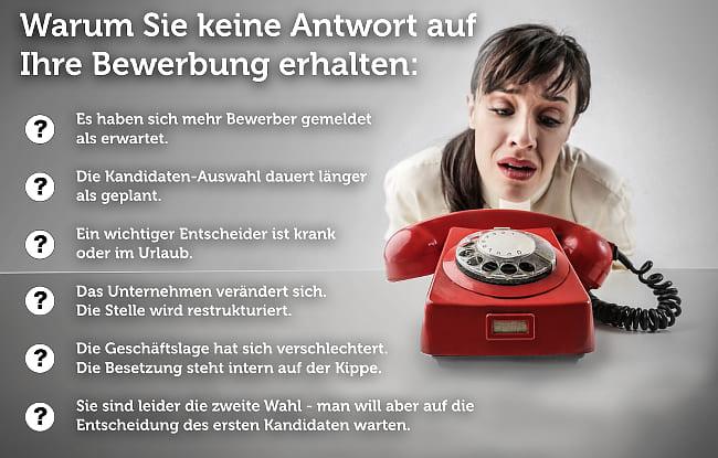 Keine Antwort Nach Bewerbung Gruende Telefon Nachfassen