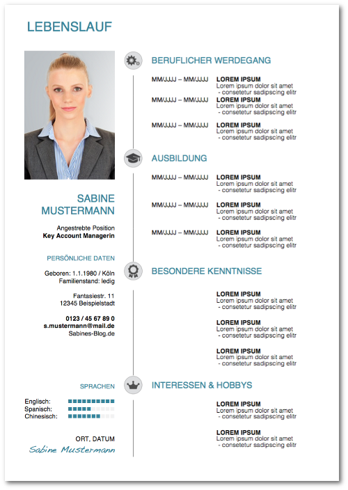 Moderner Lebenslauf: Vorlagen und Tipps | karrierebibel.de