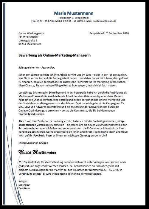 Bewerbungsmuster-Anschreiben- Fortbildung-Vorschau