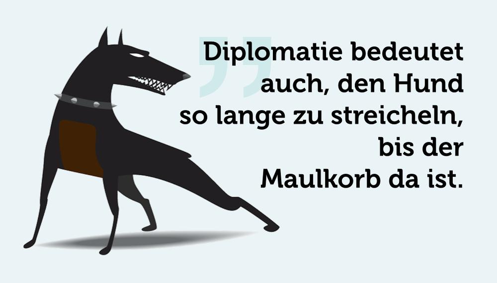 Diplomatie-Hund-Maulkorb