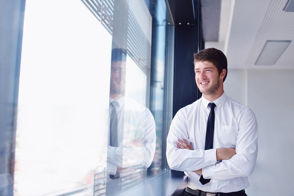 Job-Zufriedenheit-Modern-Buero