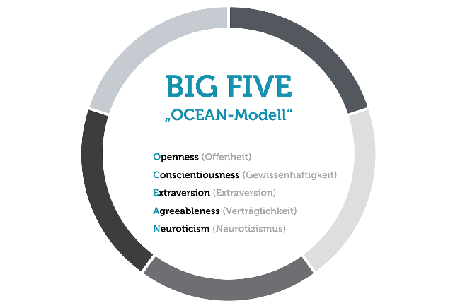 Karrierewechsel Ocean Modell Big Five