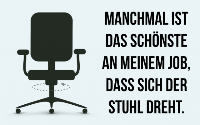 Stuhl-dreht-Job-Frust-Langeweile