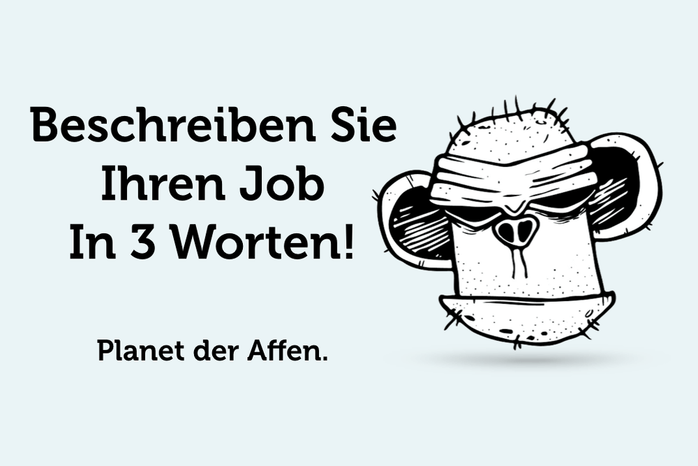 Bürosprüche lustig Kollegen Affen