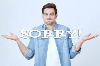 Entschuldigung: Wie Sie sich richtig entschuldigen