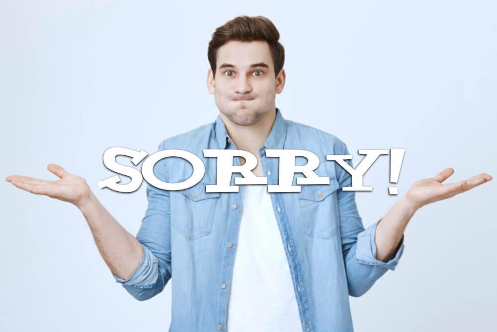 Entschuldigung: Sich richtig entschuldigen