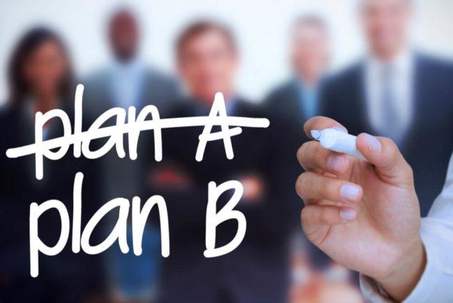 Plan B: Alternativplan für Unverhergesehenes