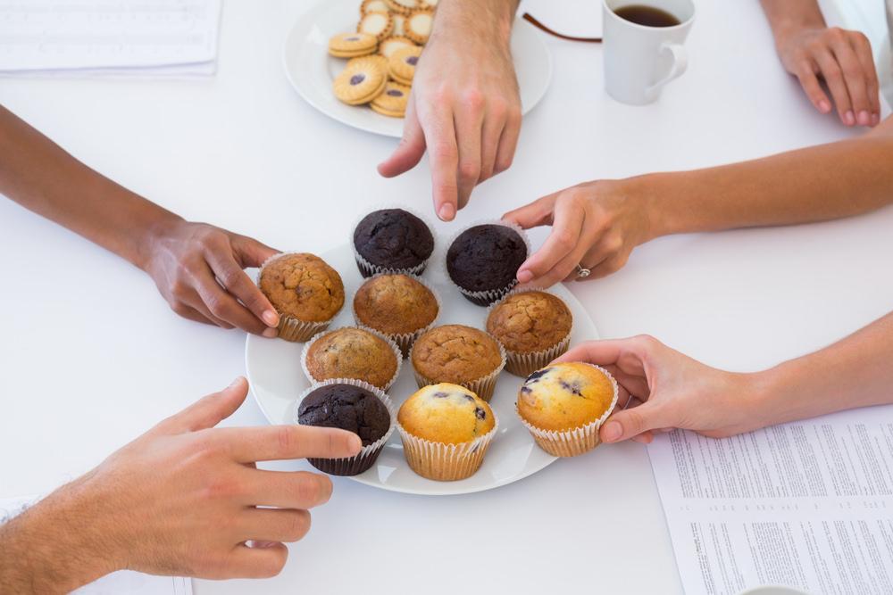 Suessigkeiten-Kekse-Meeting-Praesentation-Trick